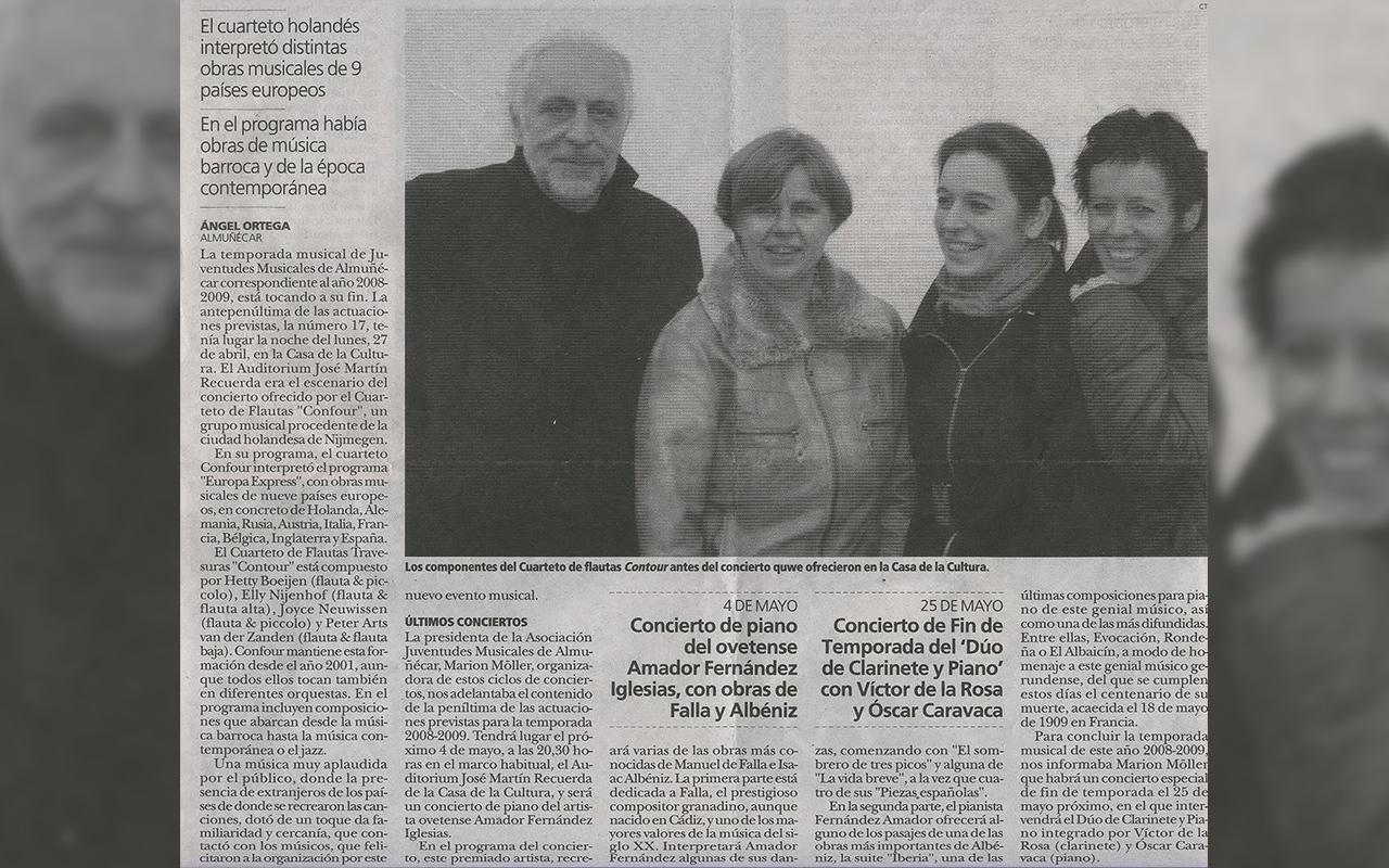 Spain Tour 2009 / Flute Quartet Confour (2002-2011)
